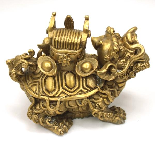 銅製 集宝 龍亀